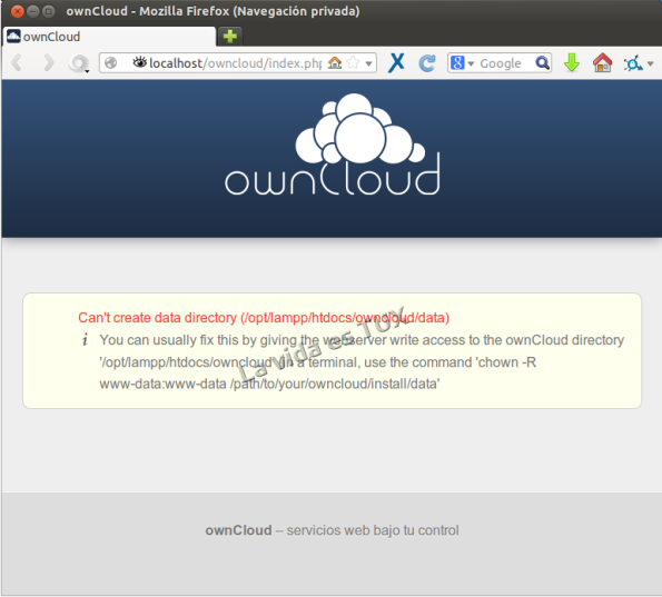 OwnCloud error