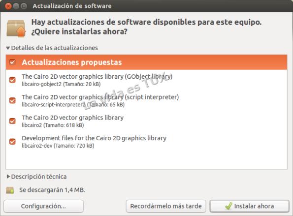 Actualizacion Software