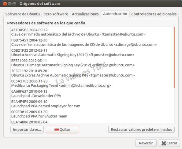 Orígenes del software: Autenticacion