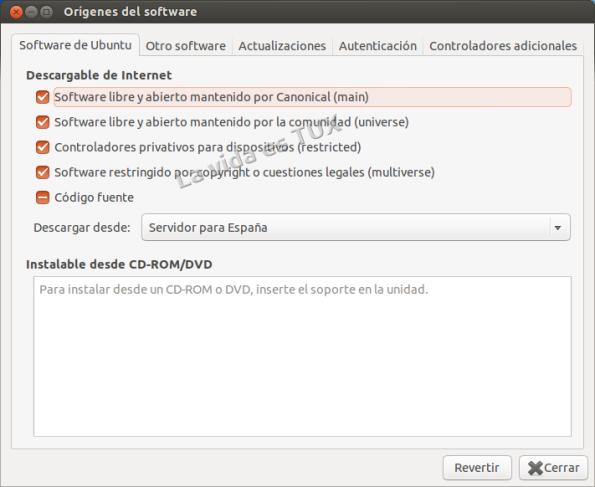 Origenes del software: Software Ubuntu