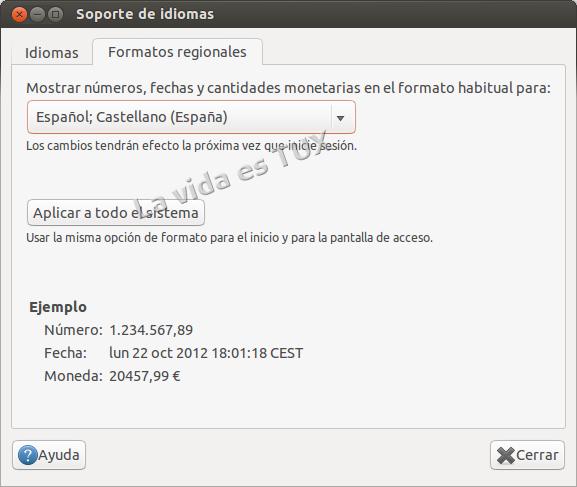Soporte de idiomas deUbuntu