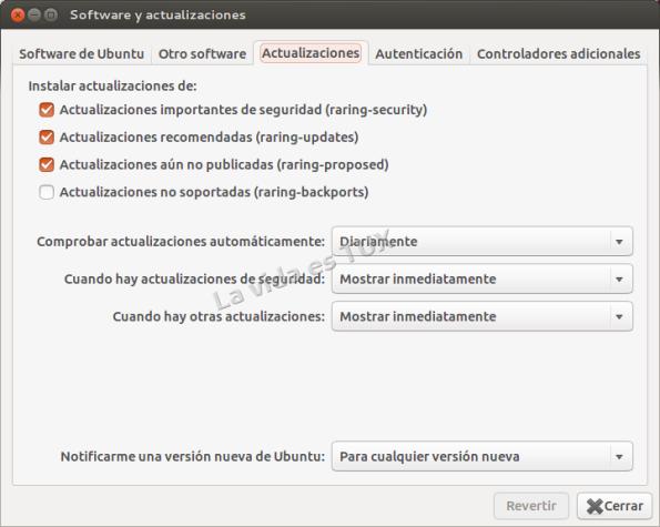 Software y actualizaciones_Actualizaciones