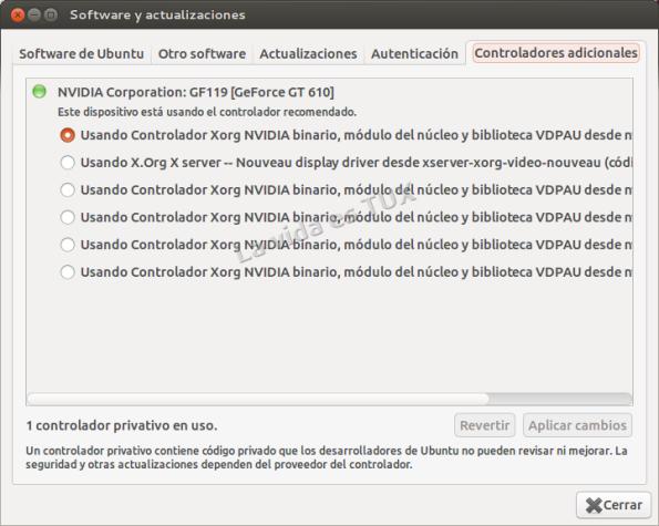 Software y actualizaciones_Controladores adicionales