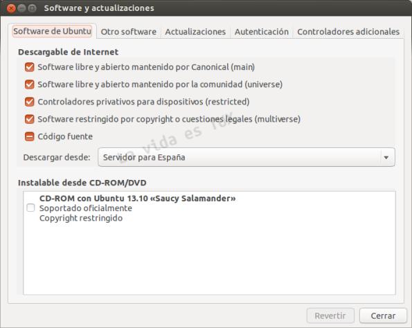 Software de Ubuntu