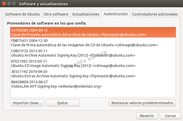 Software y actualizaciones 14.04_Autenticacion