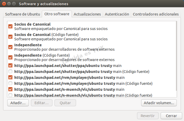 Software y actualizaciones 14.04_Otro Software