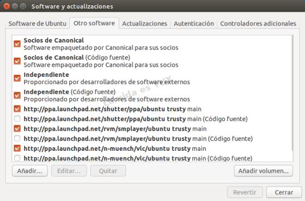 Software y actualizaciones 14.04_Otro Software
