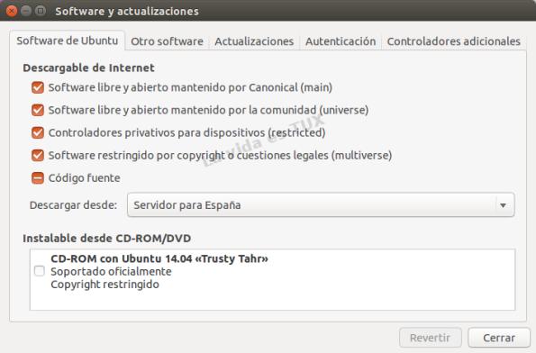 Software y actualizaciones 14.04_Software de Ubuntu